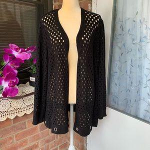 Lane Brayan cardigan size 22-24 black Long Sleeves